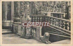 Postcard Old Basilica Di S Domenico Maggiore Napoli Altare Magglore