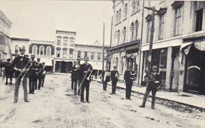 Wisconsin Whitewater The City Band On First Street Circa 1900