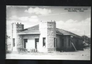 RPPC BALLINGER TEXAS RAILROAD DEPOT TRAIN STATION REAL PHOTO POSTCARD