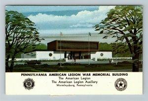 Wormleysburg PA- Pennsylvania American Legion War Memorial Build ChromePostcard
