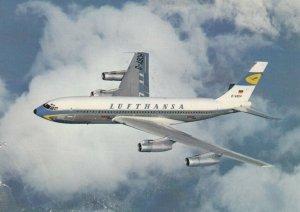 LUFTHANSA, Boeing Jet 720 B in flight, PU-1961