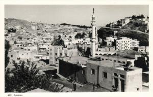 jordan, AMMAN, Partial View with Mosque (1950s) RPPC