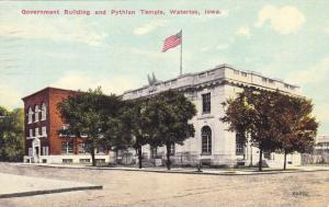 Exterior, Government Building and Pythlan Temple,Waterloo,Iowa,PU-1944