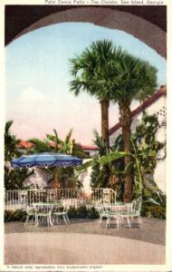 Georgia Sea Island Cloister Hotel Palm Dance Patio