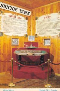 Nevada Virginia City Delta Saloon Suicide Table