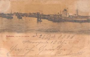 Cuxhaven Germany Harbor View Lighthouse Antique Postcard J59244
