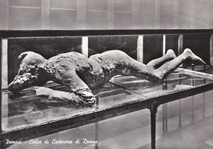 Italy Pompei Calco di Cadavere di Donna