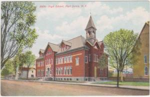 High School at Port Jervis NY, New York - DB