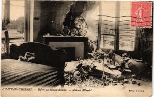 CPA CHATEAU-THIERRY Effets du bombardement Maison Albrecht (202433)