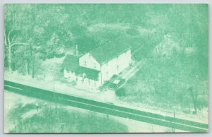Buckingham Pennsylvania~Mr Mrs Theo Rockafellow Center~1963 Aerial View~1967 PC