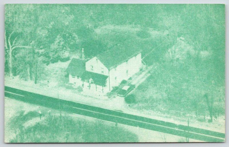 Buckingham Pennsylvania~Mr Mrs Theo Rockafellow Center~1963 Aerial View~1967 PC