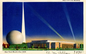 NY - New York World's Fair, 1939. New York City Building