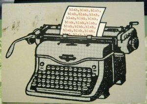 Postcard Typewriter Blah Blah Blah - posted 1983