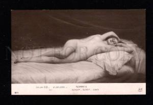 015815 NUDE Lady on Bed By G. De COOL vintage SALON 1912