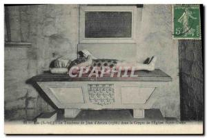 Postcard Old Death In The Tomb of Jean d & # 39Artois in the crypt of Our Lad...