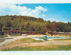 Unused Pre-1980 OLD CARS & EDELWEISS MOTEL Mendon Vermont VT M0508