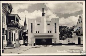 suriname, PARAMARIBO, Tower THEATRE (1956) RPPC