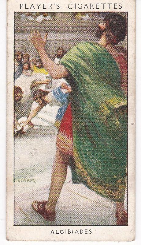 Cigarette Card Player's Dandies No 3 Alcibiades