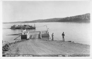 Lake Norfork Arkansas Ferry Pier Real Photo Antique Postcard K59898