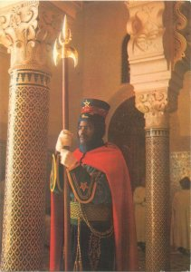 Morocco Postcard Rabat Royal Guard soldier ethnic type typical outfit