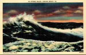 Virginia Virginia Beach Stormy Waves