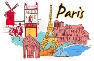 Fine Art Quality Postcard, Paris, France, Landmarks, City, View, Travel 40K