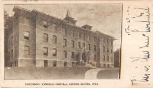 Council Bluffs Iowa Edmundson Memorial Hospital Antique Postcard K83028