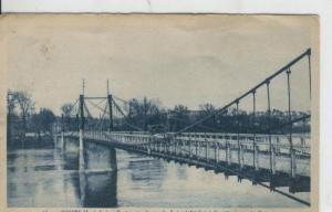 Postal 008584: Tours: Pont suspendu sur la Loire