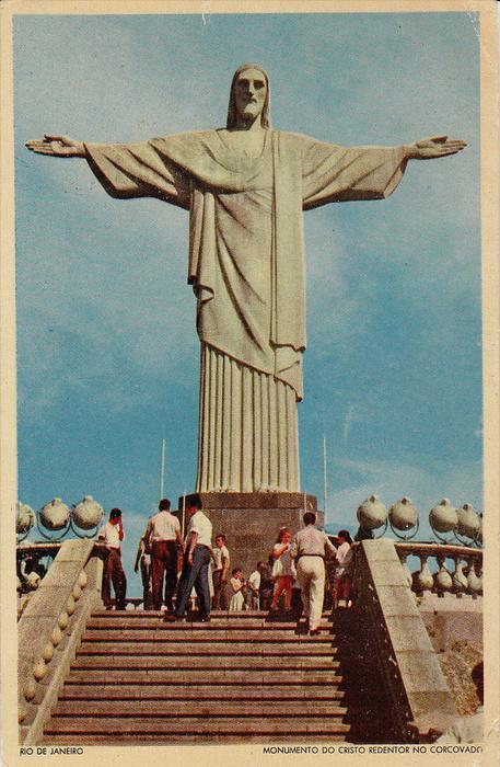 Monumento Do Cristo Redentor No Corcovado, RIO DE JANEIRO, Brazil, 1940-1960s