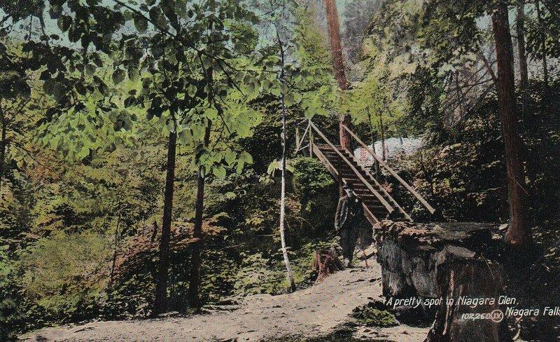 NIAGARA FALLS, Ontario, Canada, PU-1911; A Pretty Spot In Niagara Glen