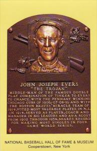 John Joseph Evers The Trojan Baseball Hall Of Fame & Museum Cooperstown New York