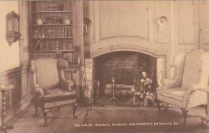 Virginia Westmoreland County The Parlor Memorial Mansion Washington Birthplac...