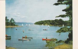 Canoes in Kingsland Bay - Ecole Champlain - Ferrisburg VT, Vermont