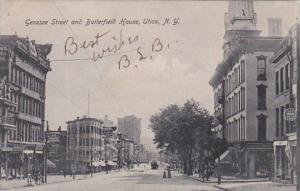 New York Utica Genesee Street and Butterfield House 1908