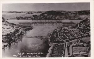 RP: Artist's Conception of the Grand Coulee Dam, Washington, 1910-30s