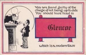 Humour Man In Front Of Judge Glencoe Pennsylvania 1913