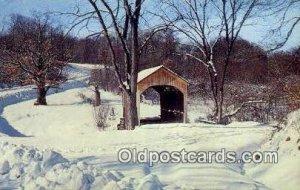 Brief Buckeye, Columbiana Co, OH USA Covered Bridge Postcard Post Card Old Vi...