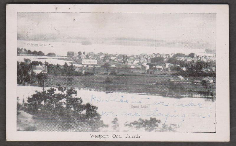 View Of Westport, Ontario 1946 Used - Writing On Front