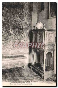 Old Postcard Chenonceaux I and L Catherine Green Cabin Chateau Midicis Tapiss...