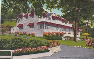 New York Prattsville Wardlows Hotel 1956