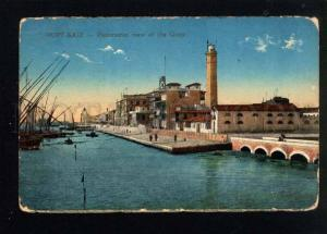 042867 LIGHTHOUSE in Port-Said EGYPT Vintage PC