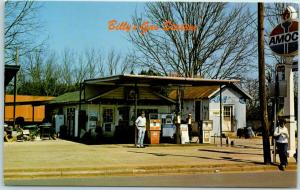 1970s Plains, Georgia Postcard Billy's Gas Station Billy Carter Gas Pumps