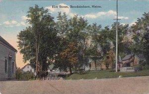 Maine Bowdoinham Elm Street 1921 Curteich