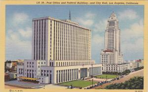 Scenic view,  Post Office, Federal Building & City Hall,  Los Angeles,  Calif...