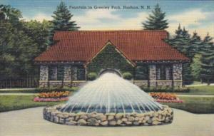 New Hampshire Nashua Fountain In Greeley Park