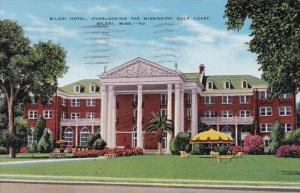 Mississippi Biloxi Hotel Overlooking The Mississippi Gulf Coast 1941