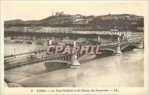 Postcard Old lyon 9 gallieni the bridge and the hill of fourviere Tramway