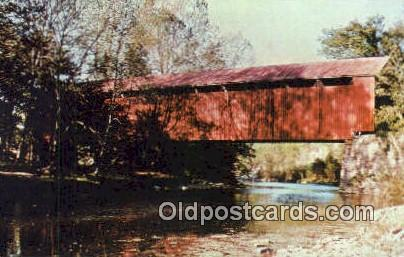 Perrintown, Clermont Co, USA Covered Bridge Postcard Post Card Old Vintage An...