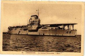 CPA CHERBOURG - Le Cuirassé Porte avions Bearn (128308)