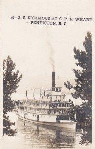 RP, PENTICTON, British Columbia, Canada,10-20s; S. S. Sicamous At C. P. R. Wharf